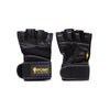 ELITE WRIST WRAP WORKOUT GLOVES - LEATHER EDITION