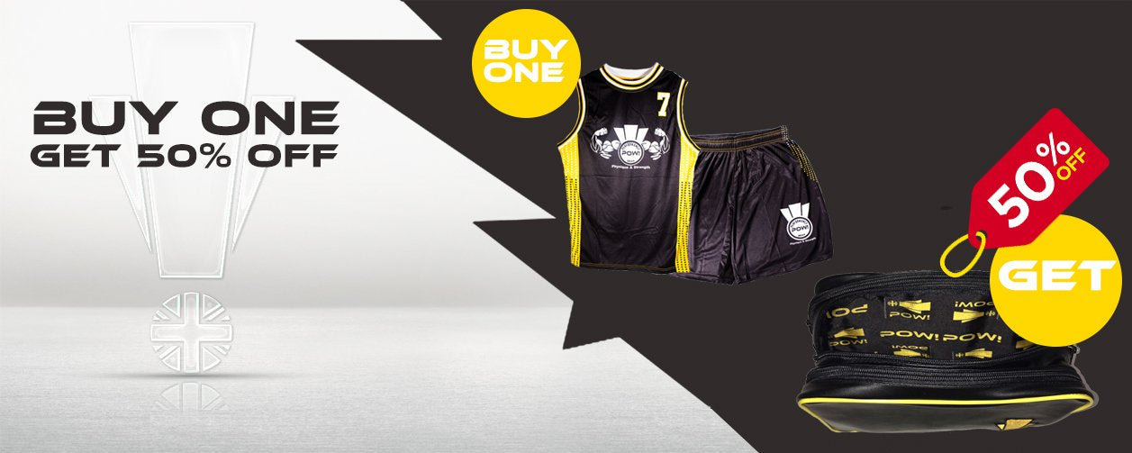 Buy Pow Basketball Top & Shorts and Get 50% OFF on Pow Gym Buddy - Synthetic Leather