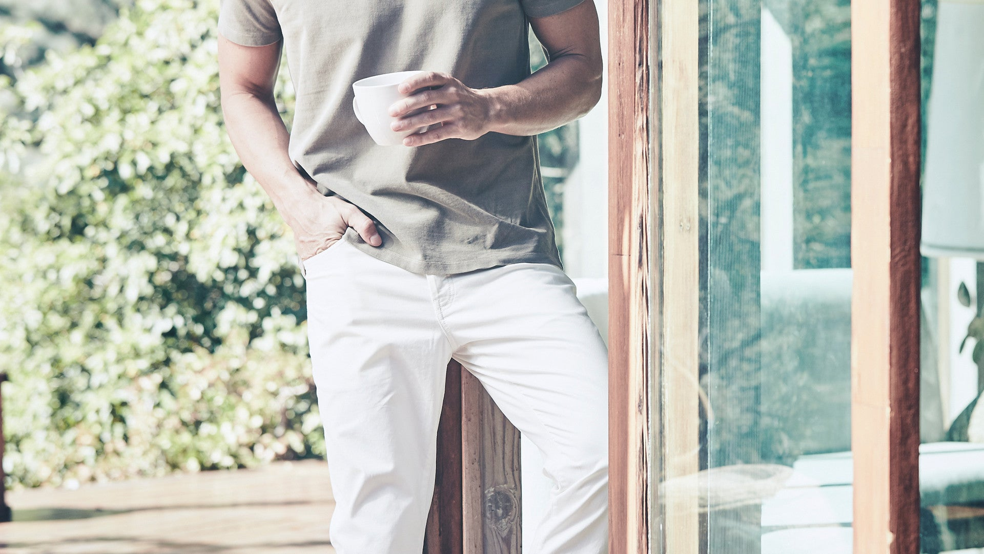 Classic 5 Pocket Pant in White