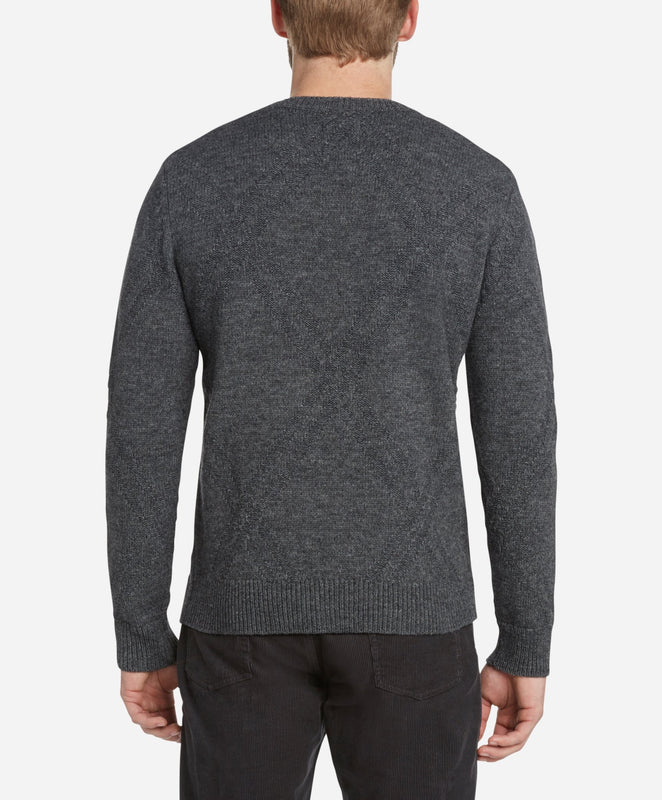 Argyle Crew Sweater - Heather Charcoal