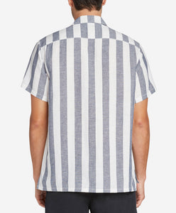 Short Sleeve Awning Shirt - Ocean Blue