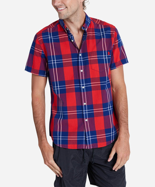 Beacon Short Sleeve Shirt - Racing Red