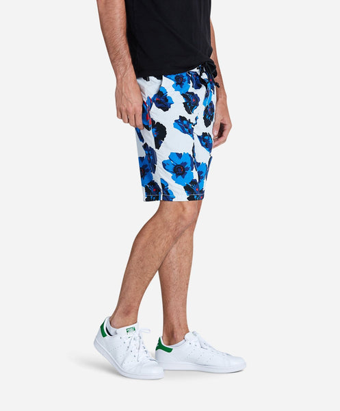 Big Poppy Board Short - White