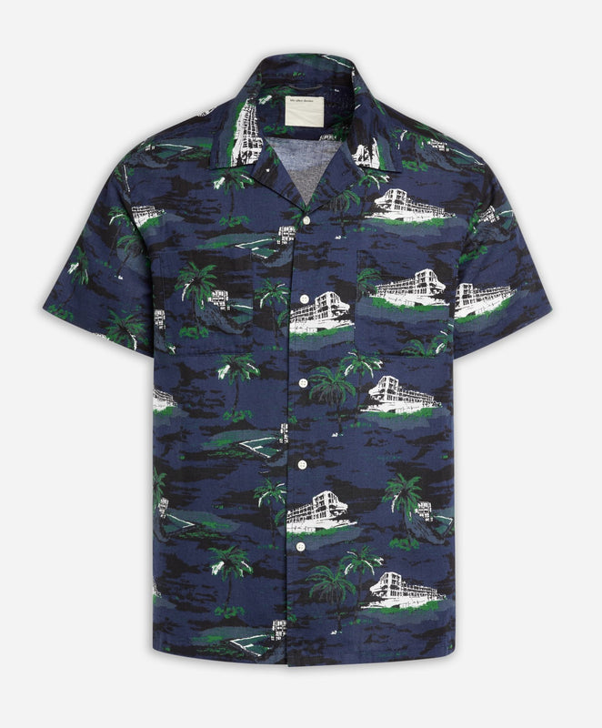 Short Sleeve Bondi Icebergs Shirt - Ocean Blue