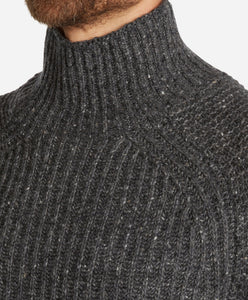 Borough Merino Turtleneck  -  Heather Charcoal