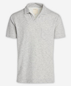 Brisbane Stripe Polo - Heather Grey