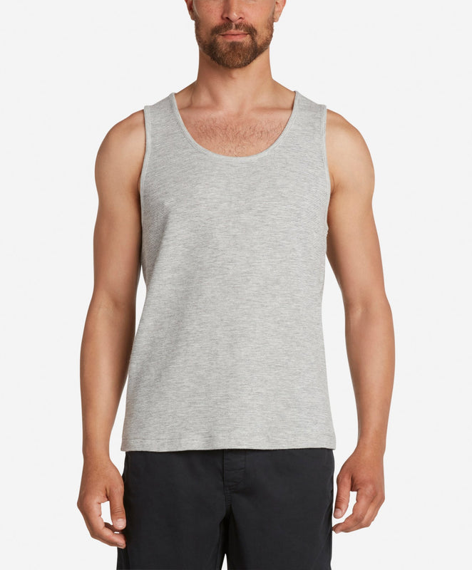 Brisbane Stripe Tank - Heather Grey