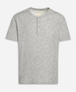 Brisbane Stripe Henley - Heather Grey