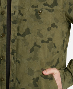 Camo Lightweight Shirt Jacket - Sprig