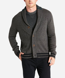 Collegiate Cardigan - Heather Charcoal