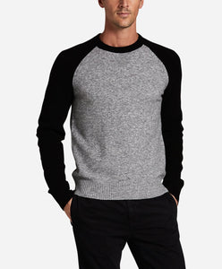 Colorblock Cozy Crew - Heather Grey