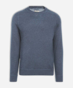 Columbia Cashmere Crew - Heather Blue