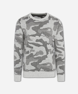 Combat Reversible Crew Sweater - Light Heather Grey