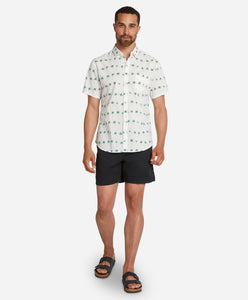Short Sleeve Cook Islands Shirt - White