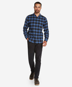 Dark Shadow Flannel Shirt  -  Blue Bell