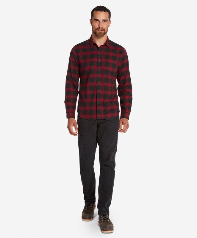 Dark Shadow Flannel Shirt  -  Wildberry