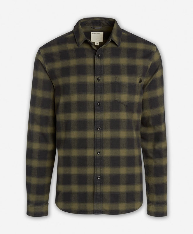 Dark Shadow Flannel Shirt  -  Willow