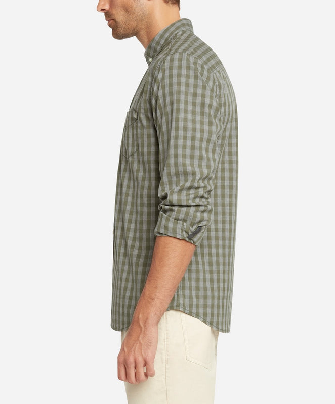 Das Checked Shirt - Dusty Olive