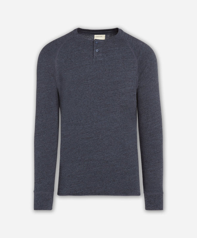 Eagle Rock Henley - Heather Navy