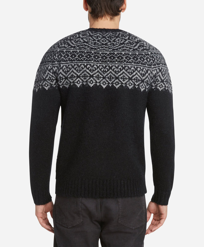 Fairisle Crew Sweater - Black