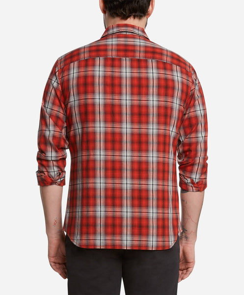 Fairmount Plaid Shirt - Red Leaf