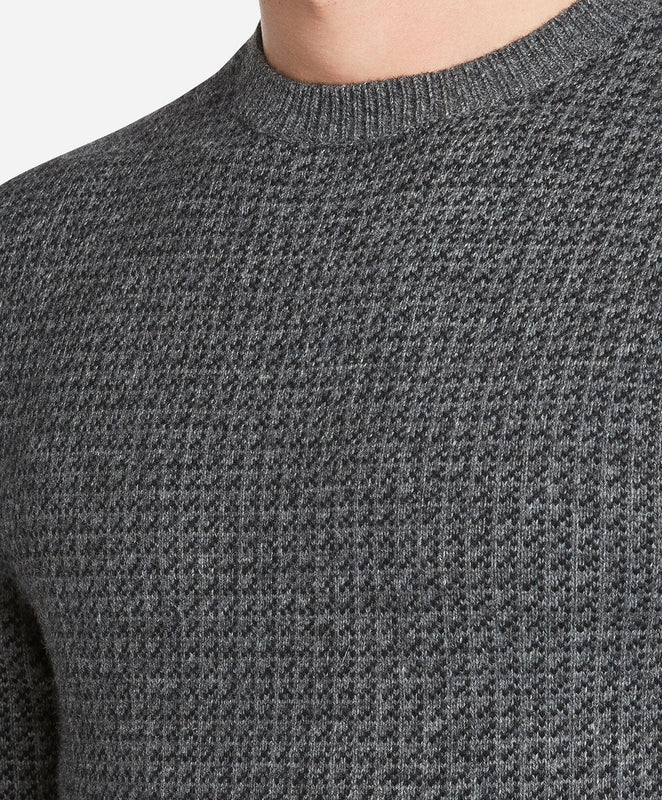 Folk Crew Sweater- Heather Charcoal