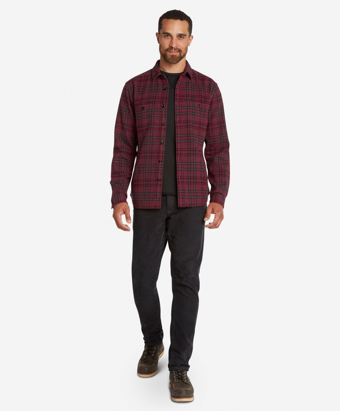 Forest Shirt Jacket  -  Oxblood