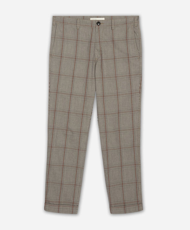 Gaberdine Cropped Trouser - Black Glen Plaid