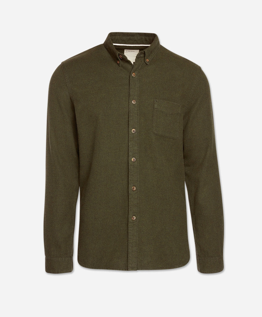 Greenpoint Flannel Shirt - Heather Field Green