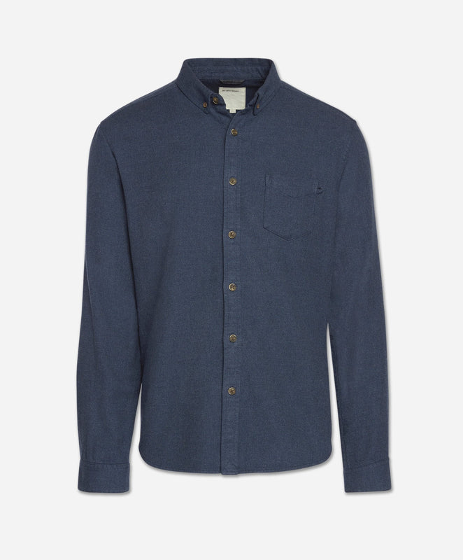 Greenpoint Flannel Shirt - Heather Blue Blood