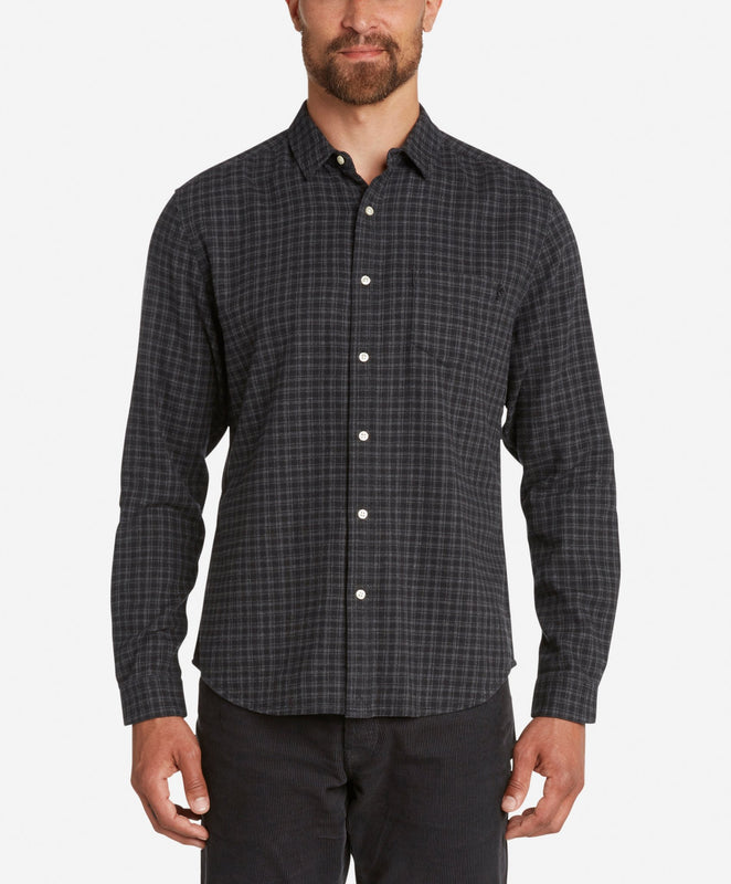 Griffin Flannel Shirt  -  Black