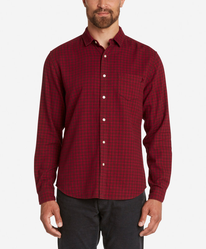 Griffin Flannel Shirt  -  Oxblood