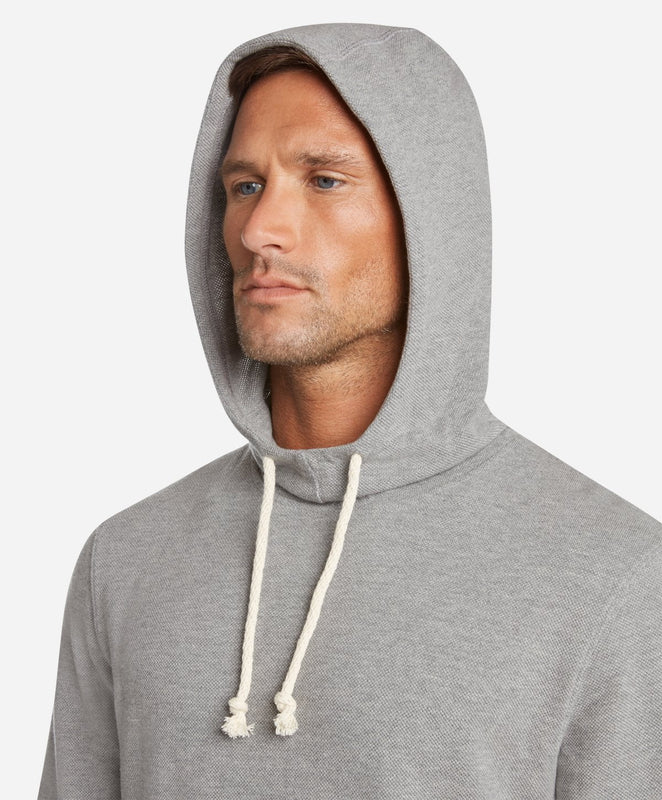Heather Pique Hoodie - Heather Grey