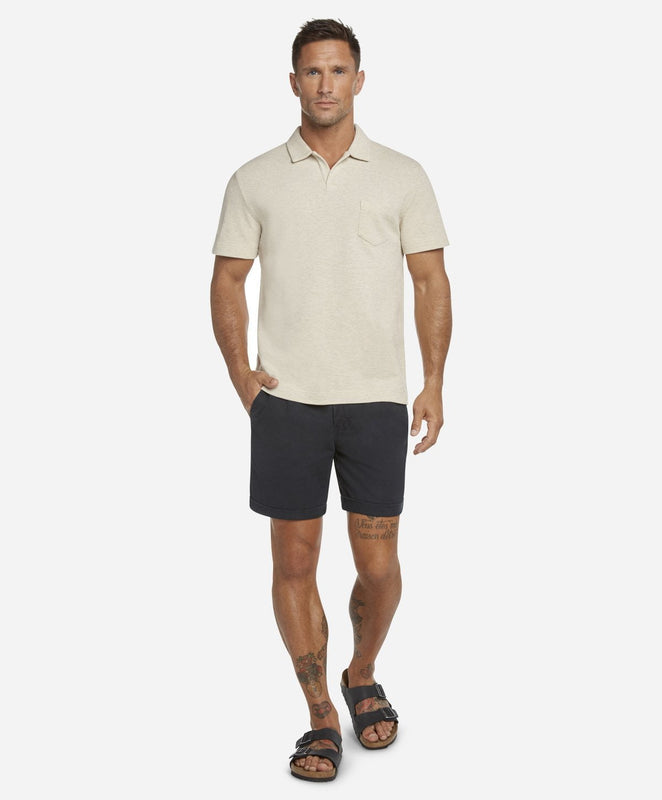 Short Sleeve Heather Pique Polo - Heather Birch