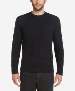 Herringbone Crew Sweater - Black
