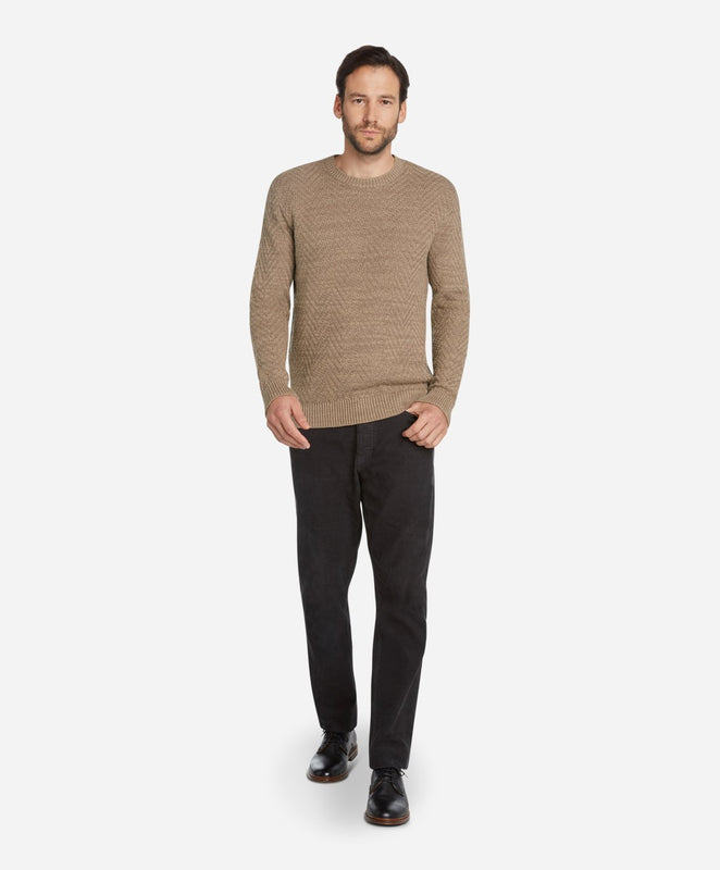 Herringbone Crew Sweater - Portobello