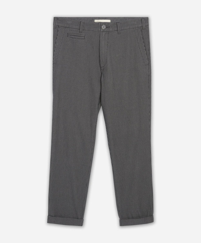 Houndstooth Cropped Pant - Medium Grey
