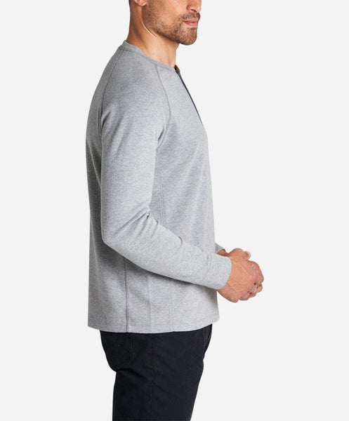 Hybrid Henley - Heather Grey