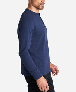 Hybrid Henley - Heather Navy