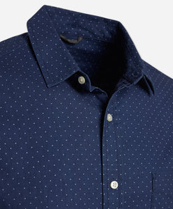 Interpoint Print Shirt - Indigo