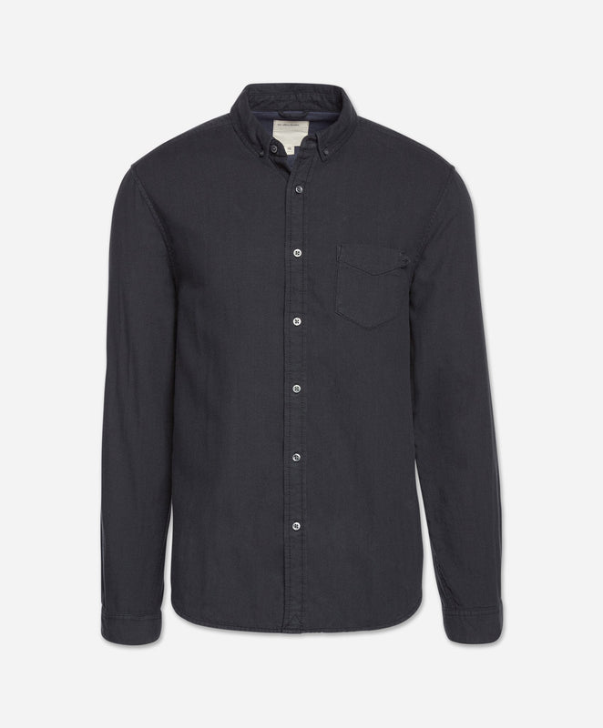 Ithaca Double Cloth Shirt - Black
