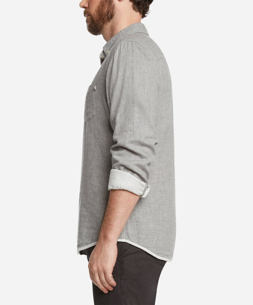 Ithaca Double Cloth Shirt - Heather Grey