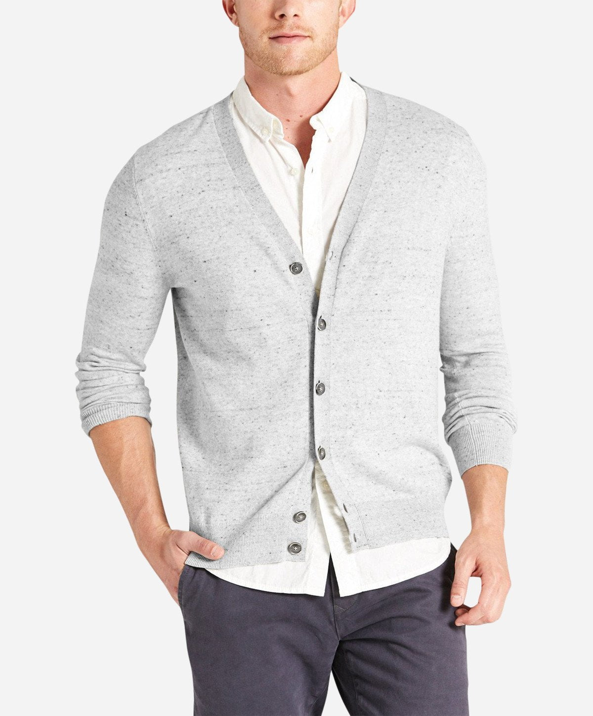 Izakaya Cardigan - Heather Grey