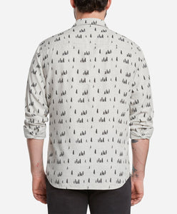 Juniper Print Shirt - Light Heather Grey