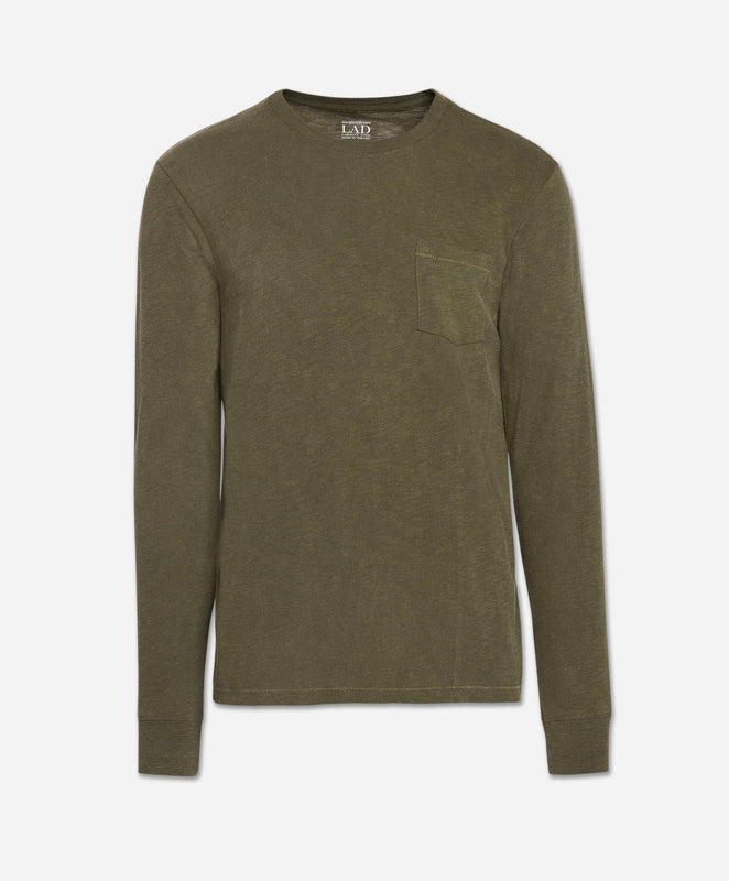 Long Sleeve Club Crew - Field Green