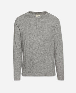 Long Sleeve League Henley - Heather Grey