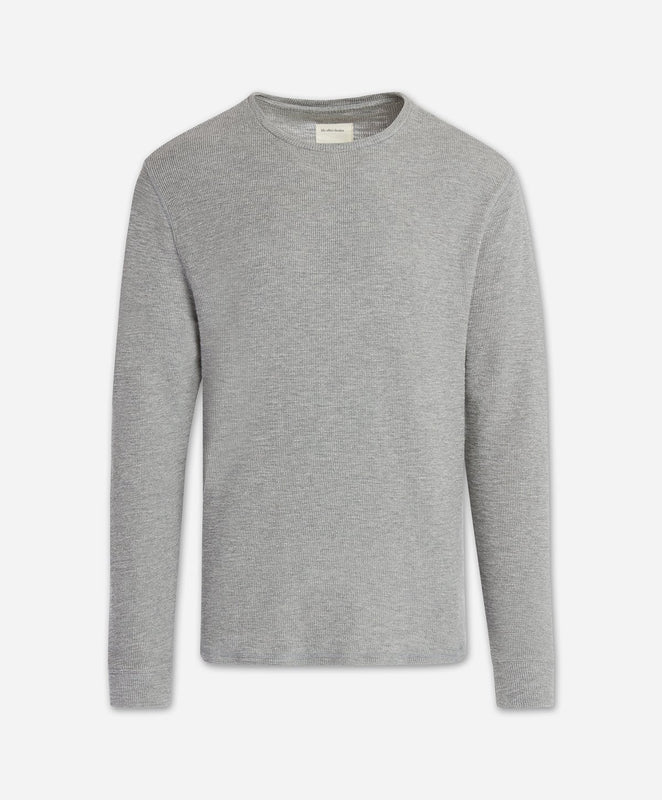Long Sleeve Thermal Tee - Heather Grey