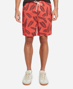 Maia Leaf Boardshort - Red Reef