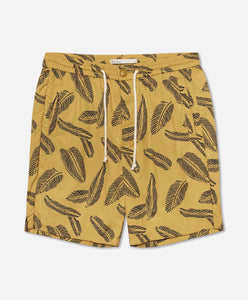 Maia Leaf Boardshort - Yellow Submarine