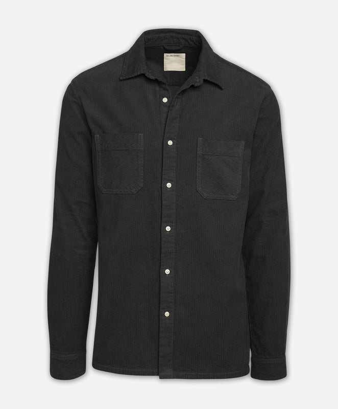 Manchester Cord Shirt Jacket - Black